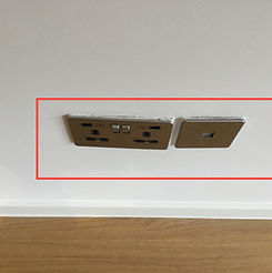 Property snagging image - double socket