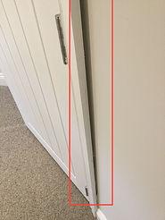 Property snagging image - door alignment