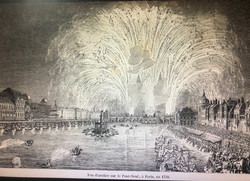 1739 - Feu d'artifice sur le Pont-Neuf