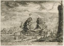 1730 - Feu d'artifice entre le Pont-Neuf et le Pont-Royal