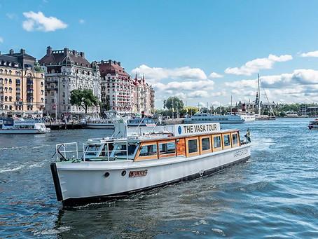 Stockholm, en Suède, le bateau électrique de Vasa Tour