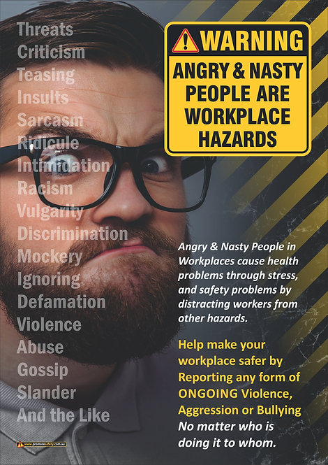 Angry People Are Hazards #2 Safety Posters