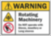Rotating Machinery Safety Sign AUS Thumb