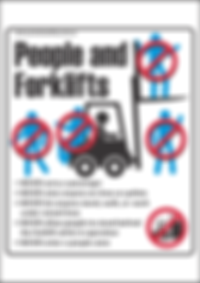 People & Forklifts Safety Sign Thumbnail