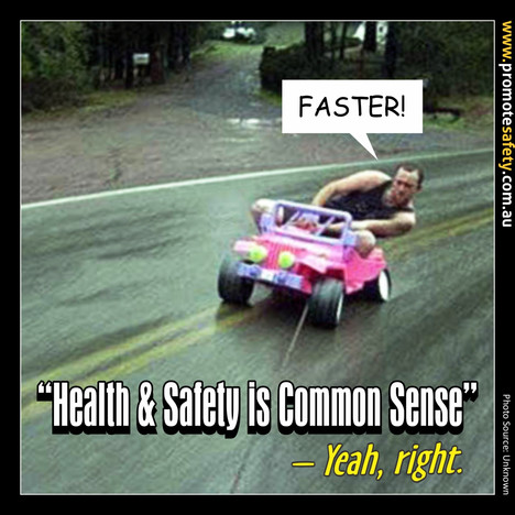 Health & Safety is Common Sense Meme #10