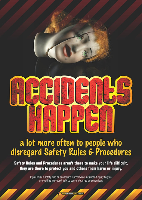 Accidents Happen Safety Posters