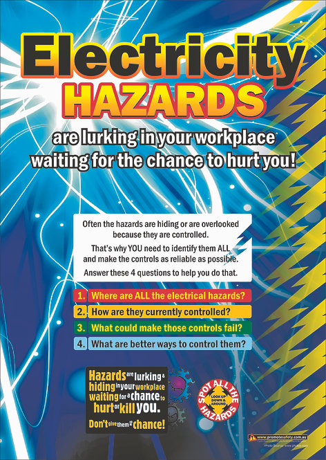 Electricity Hazards Safety Posters