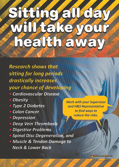 Sedentary Injury Safety Posters