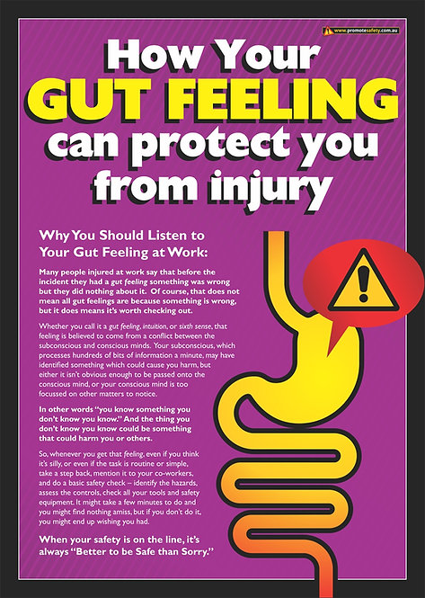 Gut Feeling Safety Posters