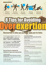 Overexertion Safety Posters