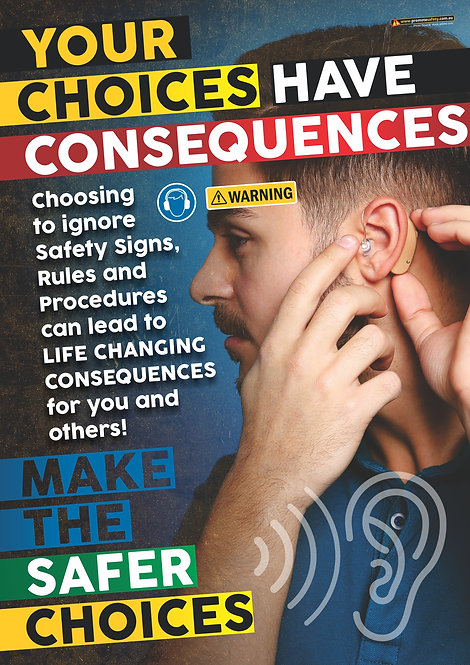 Consequences Hearing Safety Posters