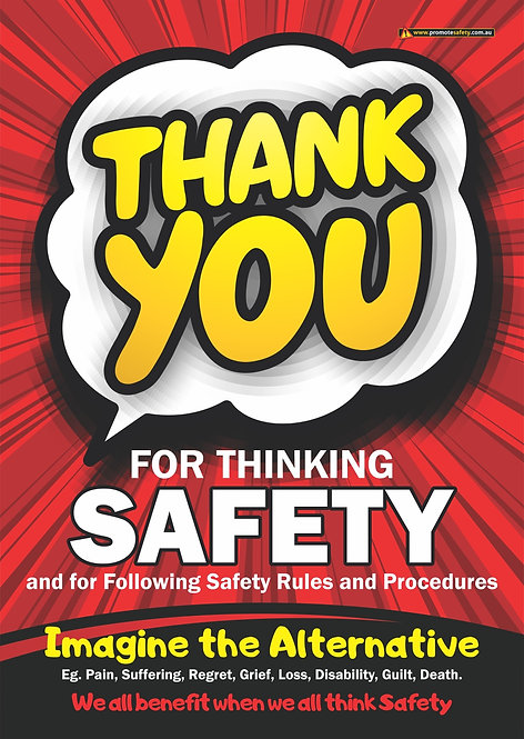 Thank You for Thinking Safety Posters