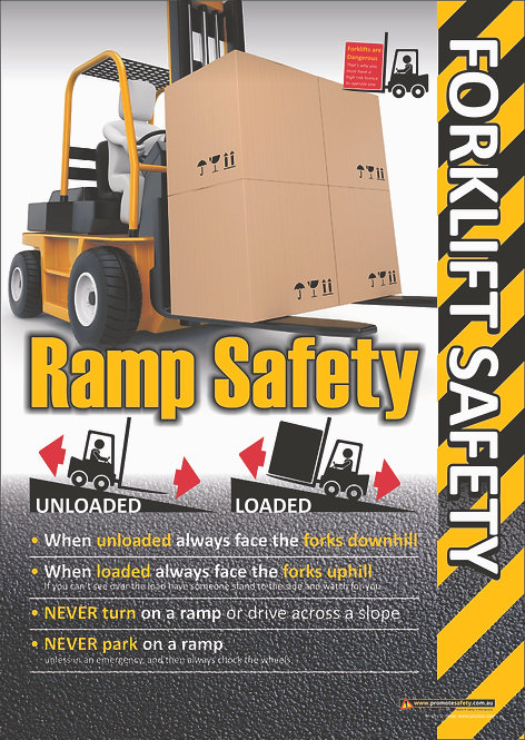Forklift Ramp Safety Safety Posters