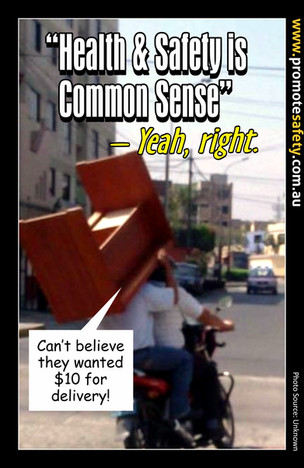 Health & Safety is Common Sense Meme #6.