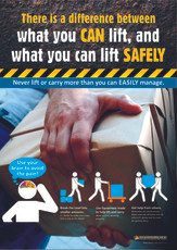 Manual Handling Lift Safely Safety Posters