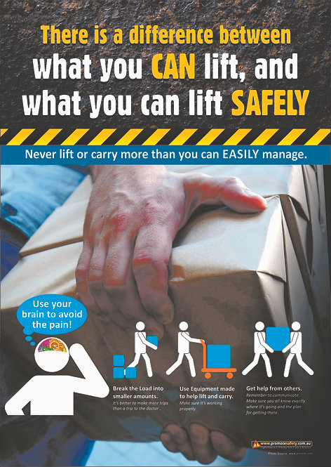 Lift Safely Safety Posters