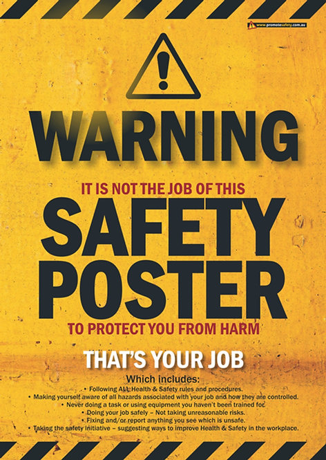 Safety Poster Protection Safety Posters