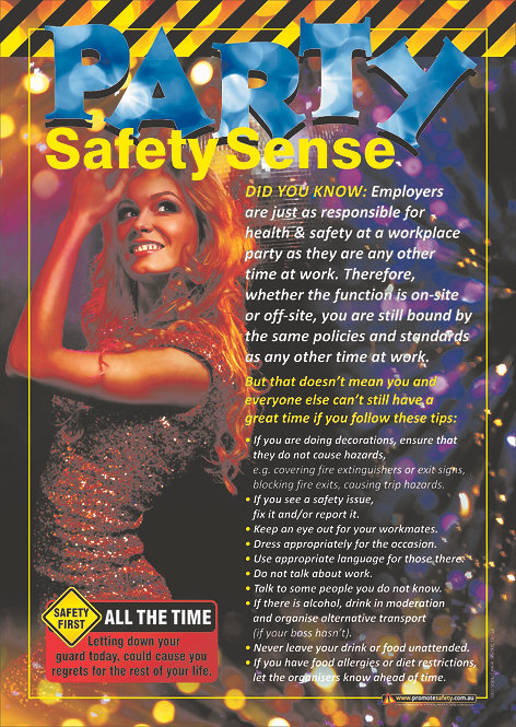 Work Party Safety Sense (Female) Safety Posters