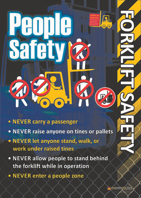 Forklift People Safety Safety Posters