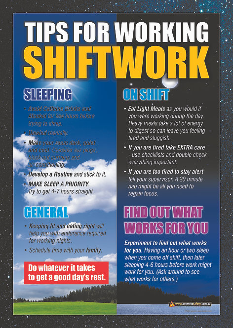 Shift Work Safety Posters