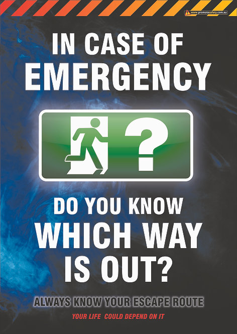 Which Way Is Out #1 Safety Posters