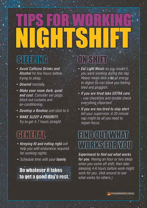 Nightshift Safety Posters