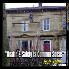 Health & Safety is Common Sense Meme #11