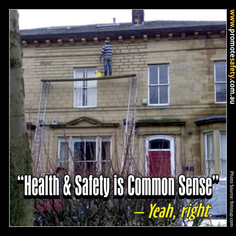 Health & Safety is Common Sense Meme #11