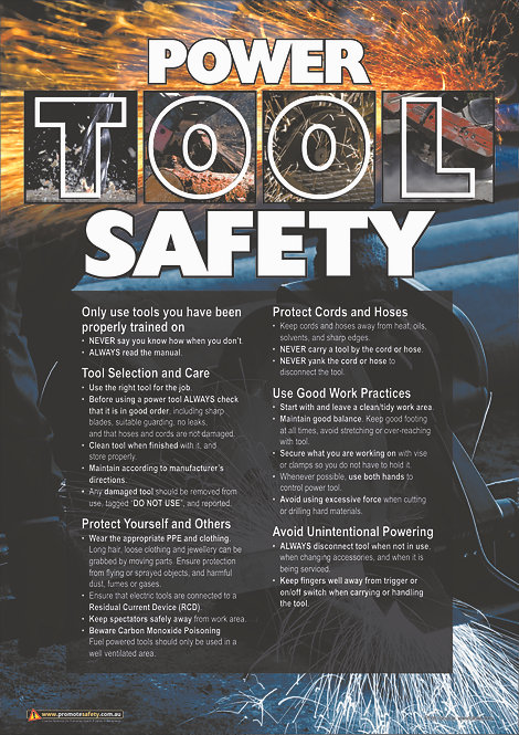 Power Tools Safety Posters