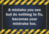 Your Mistrake Too Safety Slogan Thumbnai