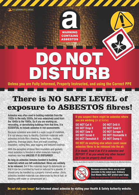 Asbestos Do Not Disturb Safety Posters