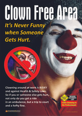 Clown Free Area Safety Posters