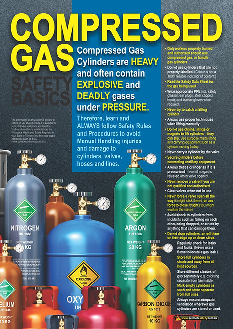 Compressed Gas Cylinders Safety Posters