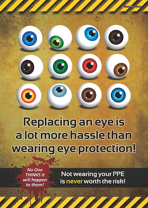 Replacing an Eye PPE Safety Posters
