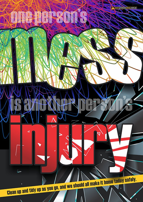 Mess and Injury Safety Posters
