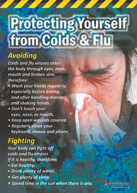 Colds & Flu Safety Posters