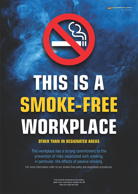 Smoke-Free Workplace #1 Safety Posters