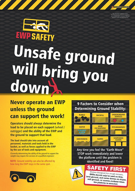 EWP Unsafe Ground Safety Posters