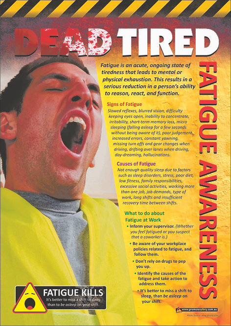 Fatigue Awareness Safety Posters