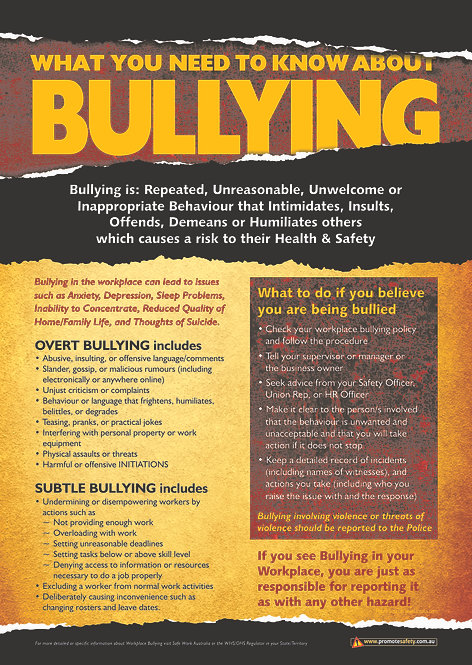 Bullying Safety Posters