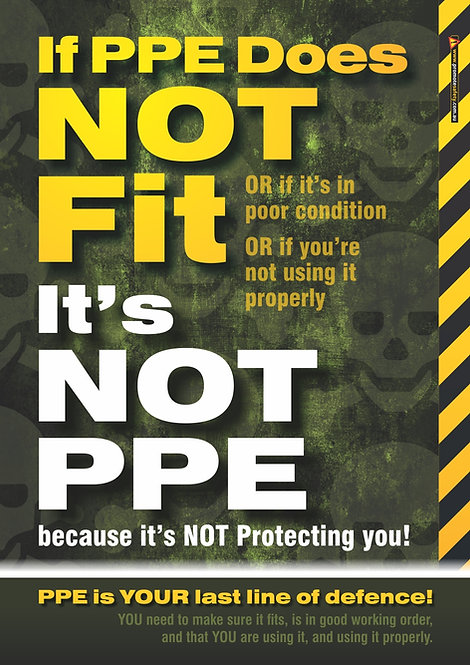 If It Does Not Fit PPE Safety Posters