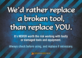 Repalce a Broken Tool Safety Slogan Thum