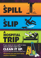 Spill Slip Hospital Trip #2 Safety Poste
