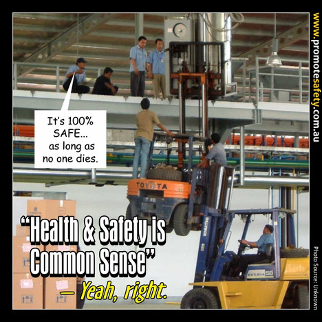 Health & Safety is Common Sense Meme #4.
