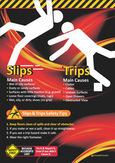 Slips & Trips Tips Safety Posters