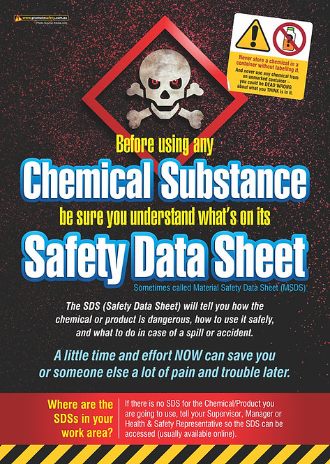 Read the SDS Safety Posters
