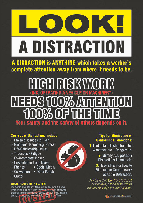 Distractions Safety Posters