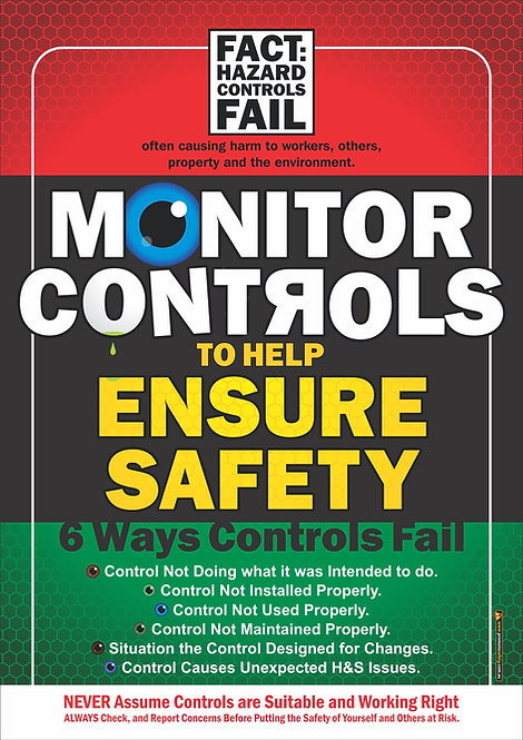 Monitor Controls Safety Posters