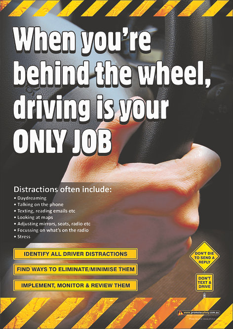 Driving is Your Only Job #2 Safety Posters