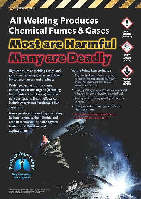 Welding Toxic Fumes Safety Posters